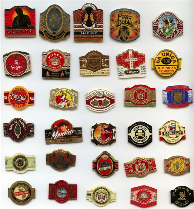 Various Cigar Bands