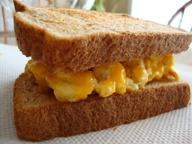 Egg and Cheese Sandwich on Wheat Toast